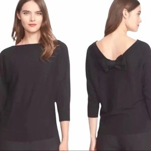 kate spade Sweaters - Kate Spade Black Bow Back Sweater